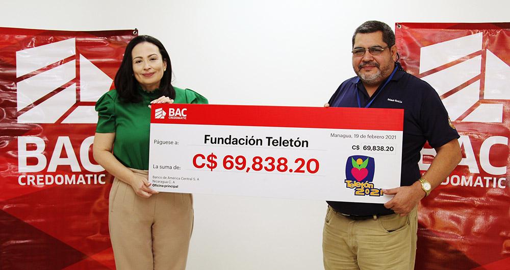 BAC Credomatic Nicaragua muestra su apoyo a Fundación Teleton