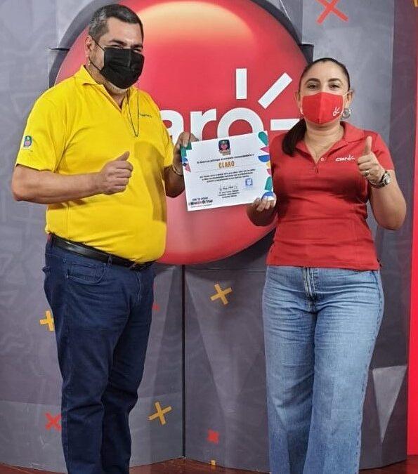 Claro Nicaragua recibe reconocimiento de Teletón
