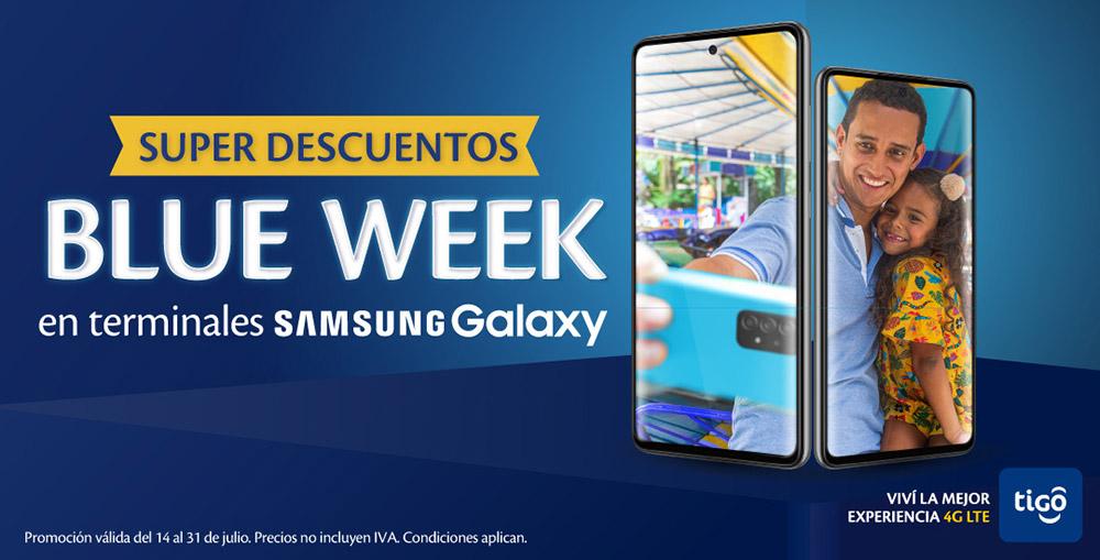 """TIGO NICARAGUA te trae los mejores precios en Smartphones con la feria """"Blue Week"""" de Samsung Galaxy"""
