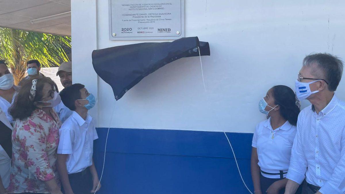 Taiwán y MINED inauguran la rehabilitación de dos Centro Escolar en Chontales