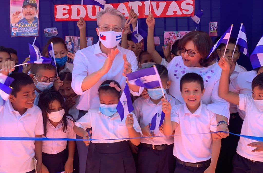 Solidaridad de Taiwán ayuda a reparar colegio en Managua