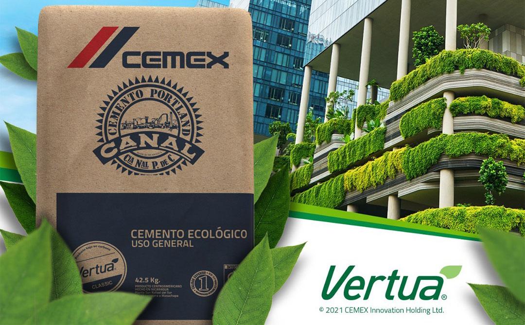 CEMENTO CANAL y CEMEX Nicaragua ofrecen Cemento con el Sello Vertua de emisiones reducidas de CO2
