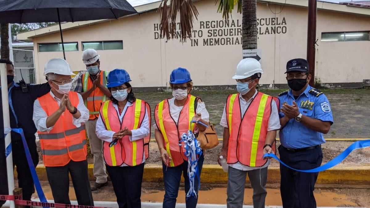 Con la Colaboración de Taiwán se rehabilita Sistema de Agua Potable del Hospital Regional de Bluefields
