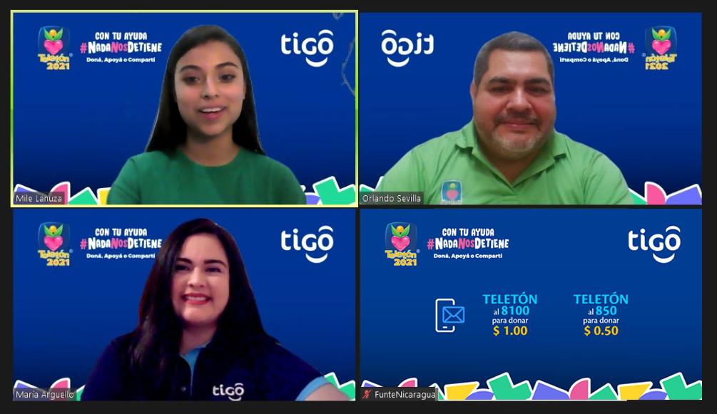 Tigo Nicaragua se une a Teletón habilitando sus canales de donación