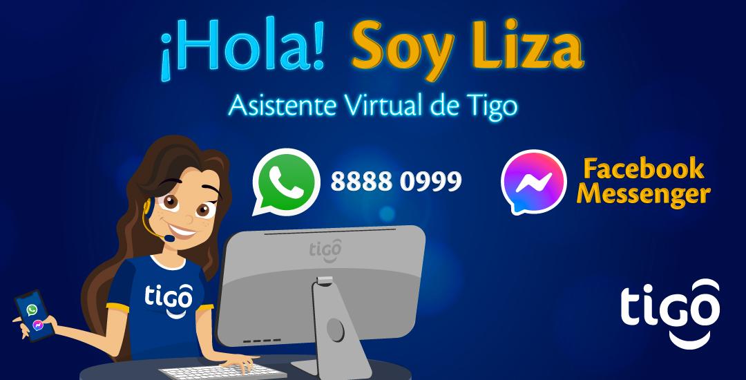 Liza, la asistente virtual de Tigo Nicaragua disponible en WhatsApp y Facebook Messenger